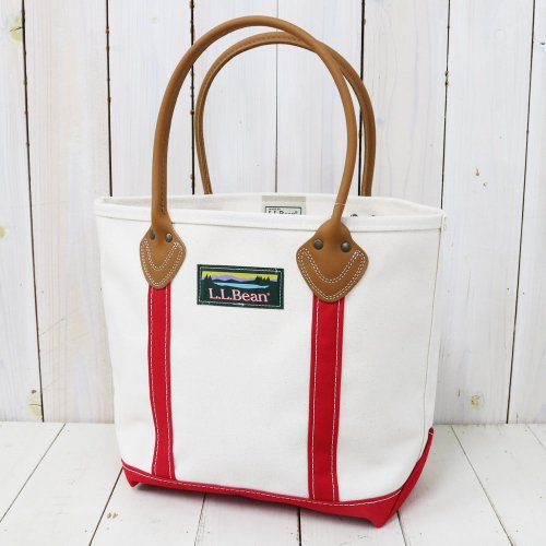 L.L.Bean『Leather Handle Katahdin Boat and Tote Bag』(Natural/Red)