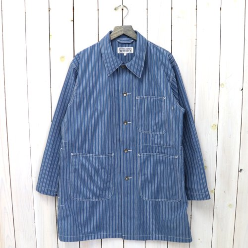 ENGINEERED GARMENTS WORKADAY『Shop Coat-Workers St. Canvas』(Blue/White)