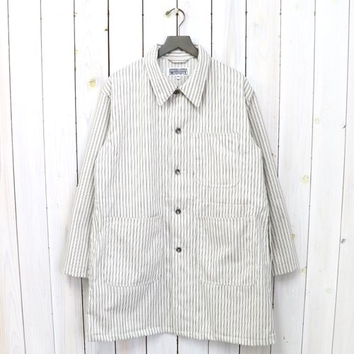 【SALE特価60%off】ENGINEERED GARMENTS WORKADAY『Shop Coat-Uniform St. Twill』(Natural/Navy)
