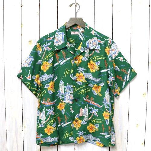 SUN SURF『S/S RAYON HAWAIIAN SHIRT -ALOHA HAWAII』(GREEN)