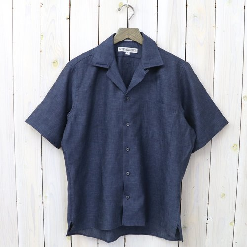 INDIVIDUALIZED SHIRTS『LINEN(CAMP COLLAR S/S)』(NAVY)