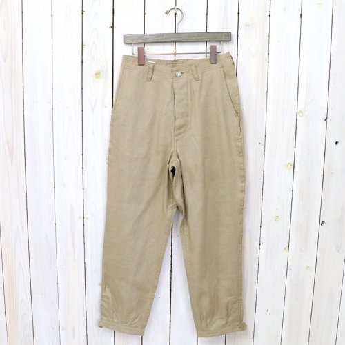 SASSAFRAS『SPRAYER STREAM PANTS 4/5(C/L OXFORD)』(BEIGE)