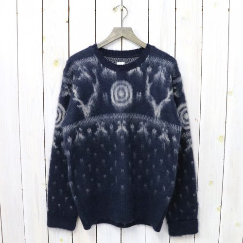 SOUTH2 WEST8『Loose Fit Sweater-S2W8 Nordic』(Navy)