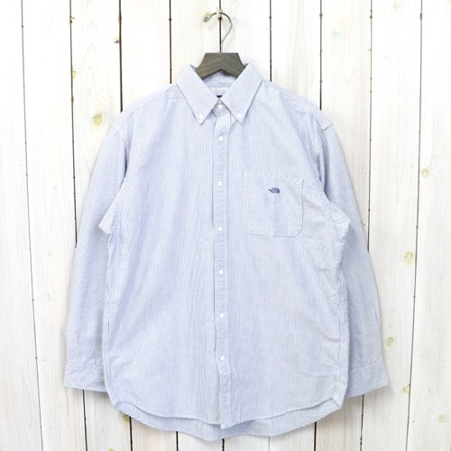 THE NORTH FACE PURPLE LABEL『Cotton Polyester Stripe OX B.D. Big Shirt』(Sax)
