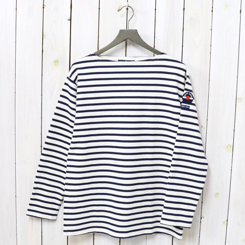 SAINT JAMES『OUESSANT PATCH』(ECRU/MARINE)