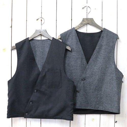 ENGINEERED GARMENTS『Reversible Vest-Wool Gabardine』(Charcoal)