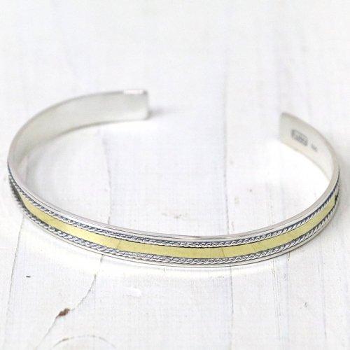 hobo『925 Silver Bracelet with Brass Plate』