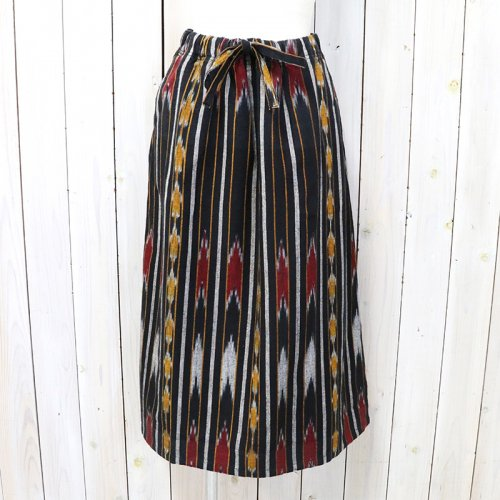 SOUTH2 WEST8『String Skirt-Ikat Pattern』(Black)