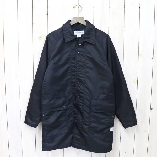 SASSAFRAS『FALL LEAF COAT +(NYLON TWILL)』(NAVY)