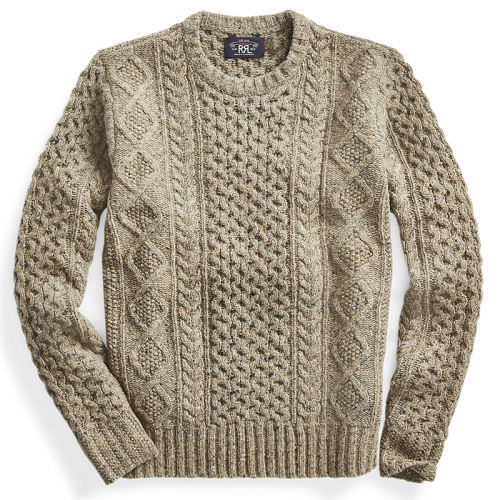 Double RL『DONEGAL WOOL CREWNECK SWEATER』(OLIVE)
