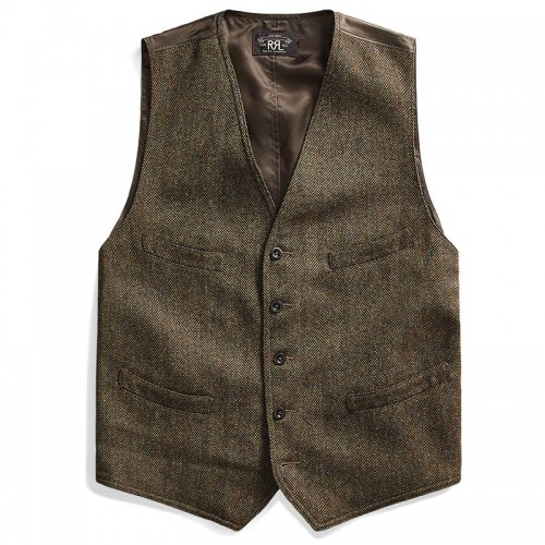 Double RL『WOOL BLEND TWEED VEST』(BROWN)