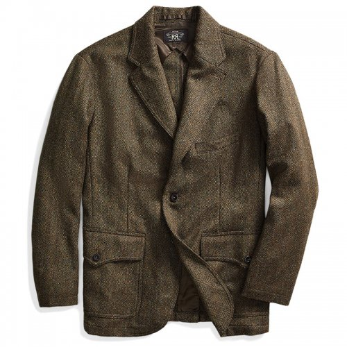 Double RL『WOOL BLEND TWEED SPORTS JACKET』(BROWN)