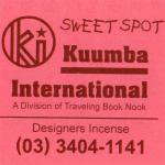 KUUMBA『incense』(SWEET SPOT)