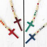 【80%off】Niche.『wood cross necklace - color』
