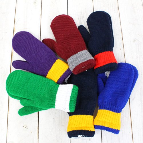 ��SALE�ò�50%off��NEWBERRY KNITTING��SCHOOL COLOR ACRYLIC MITTEN W/LNG��