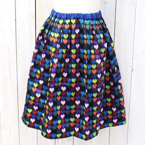 【SALE特価40%off】Bohemians『TUCK SKIRT-9-HEART SATIN-』(BLACK)