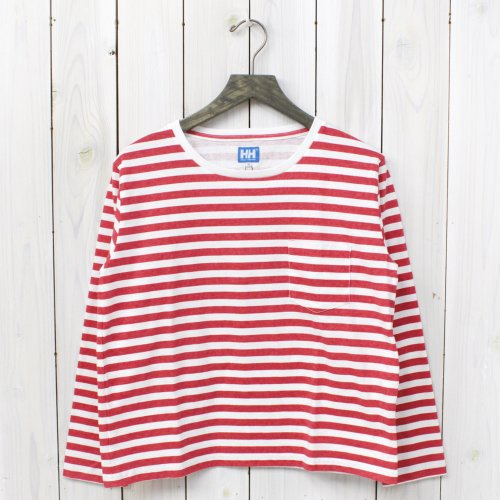 【SALE特価50%off】HELLY HANSEN BLUE LABEL×nanamica『L/S Pocket Tee』(Red)