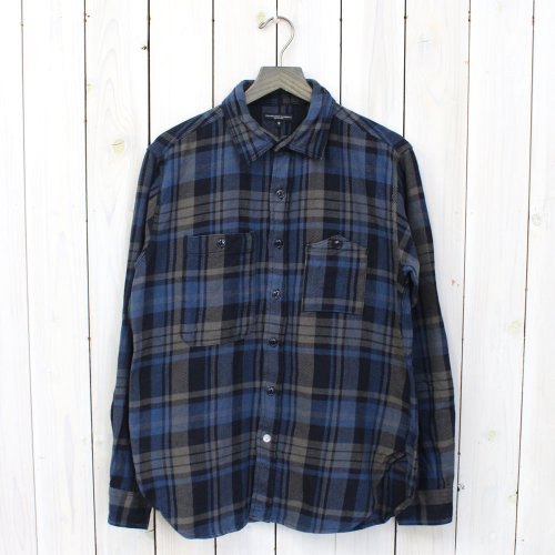 Engineered Garments『Work Shirt-Heavy Twill Plaid』(Gray/Navy)