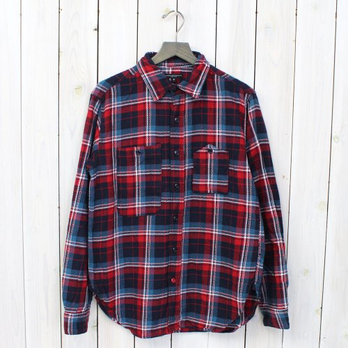 Engineered Garments『Work Shirt-Heavy Twill Plaid』(Navy/Red)
