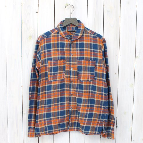 Engineered Garments『Lafayette Shirt-Rodeo Flannel』(Orange/Blue)