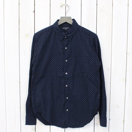 Engineered Garments『Tab Collar Shirt-Polka Dot Brushed Twill』(Navy)