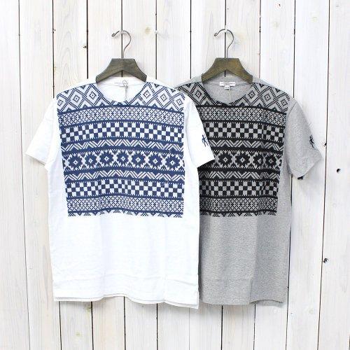 Engineered Garments『Printed Pocket T-Shirt-Fair Isle/Checkers』