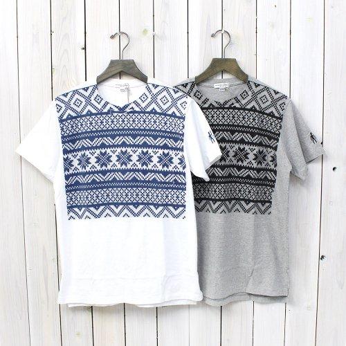 Engineered Garments『Printed Pocket T-Shirt-Faie Isle Snowflake』