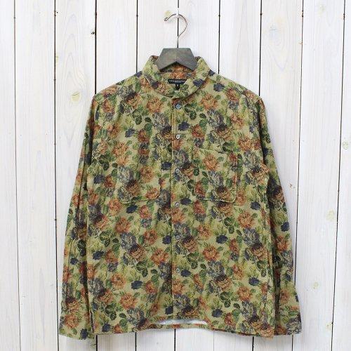 Engineered Garments『Lafayette Shirt-Floral Flannel』(Khaki)