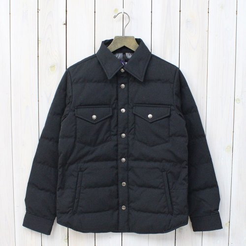 THE NORTH FACE PURPLE LABEL『65/35 Down Shirt』(Black)