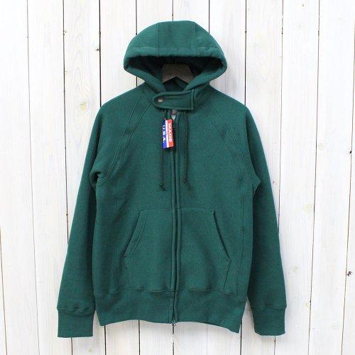Engineered Garments Workaday『Workaday Raglan Zip Hoody』(Green)