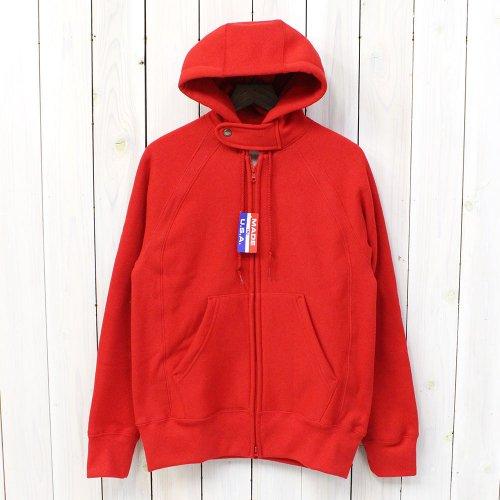 Engineered Garments Workaday『Workaday Raglan Zip Hoody』(Red)