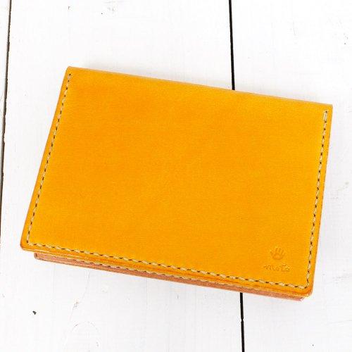 MOTO『CA1D 手染めカードケース』(Yellow)