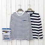 FRUIT OF THE LOOM×BLUE BLUE『2PK BORDER LS T』(NAVY)