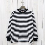 "BARBARIAN『CREW NECK LONG SLEEVE-1/2""TWO COLOR』(BLACK×WHITE)"