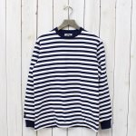 "BARBARIAN『CREW NECK LONG SLEEVE-1/2""TWO COLOR』(NAVY×WHITE)"