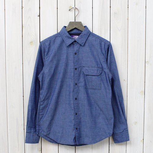 THE NORTH FACE PURPLE LABEL『COOLMAX® Indigo Chambray Shirt』(Indigo)