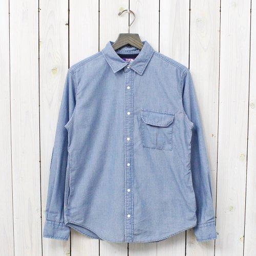 THE NORTH FACE PURPLE LABEL『COOLMAX® Indigo Chambray Shirt』(Indigo Bleach)