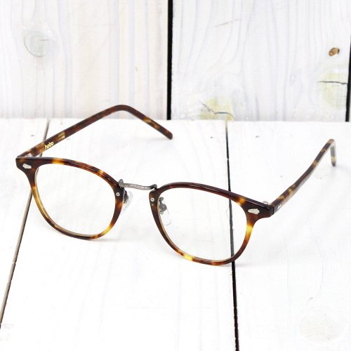 hobo『Round Frame Celluloid Glasses by KANEKO OPTICAL』(BROWN MA)