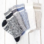 hobo『Mix Color Rib Socks』