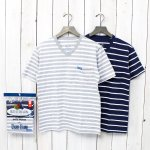 FRUIT OF THE LOOM×BLUE BLUE『BORDER VN 2PACK POCKET T』(C)