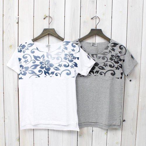【会員様限定SALE】FWK by ENGINEERED GARMENTS『Printed Cut off Neck T-shirt-Hibiscus』