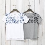 FWK by ENGINEERED GARMENTS『Printed Cut off Neck T-shirt-Hibiscus』