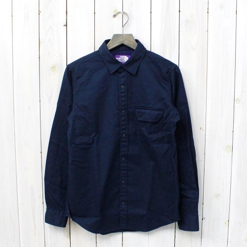 THE NORTH FACE PURPLE LABEL『Cotton Twill Shirt』(Navy)