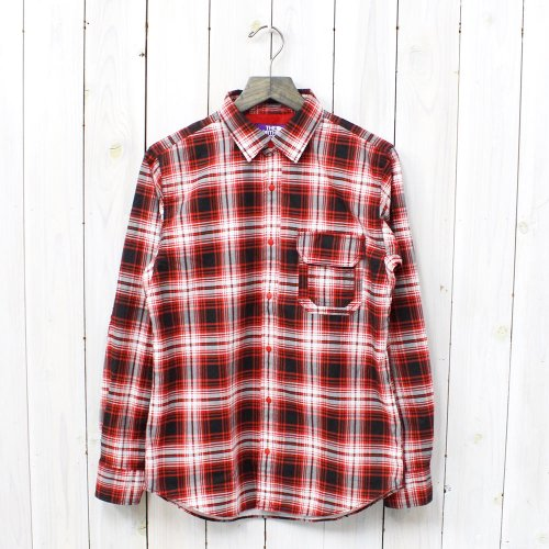 THE NORTH FACE PURPLE LABEL『Cotton OX Twill Print Check Shirt』(Red)