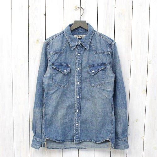 REMI RELIEF『デニムウエスタンシャツ-ノーマル』(USED BLUE)