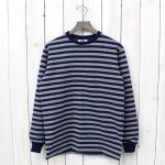 "BARBARIAN『CREW NECK LONG SLEEVE-1/2""TWO COLOR』(NAVY×OXFORD)"