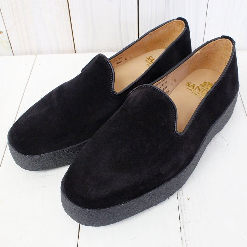 【SALE特価60%off】SANDERS『Suede Slip-on』(Black)