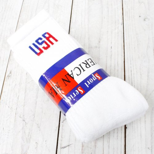 AWS『USA CREW 3P SOCKS』(WHITE)