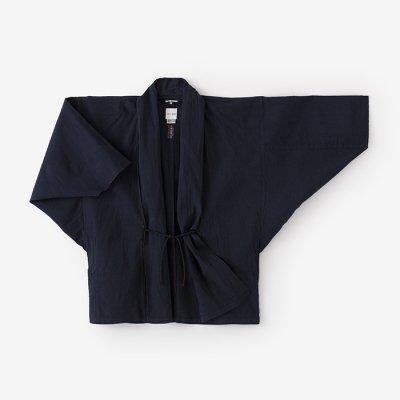 伊勢木綿20/20麻混 もじり袖 短衣 単/濃紺2(のうこん)