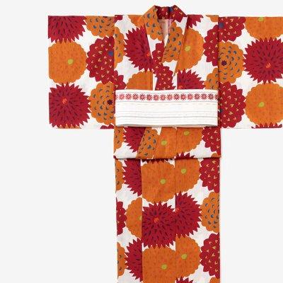 SOU・SOU×京都丸紅 浴衣/天竺牡丹 黄丹色花(てんじくぼたん おうにいろばな)